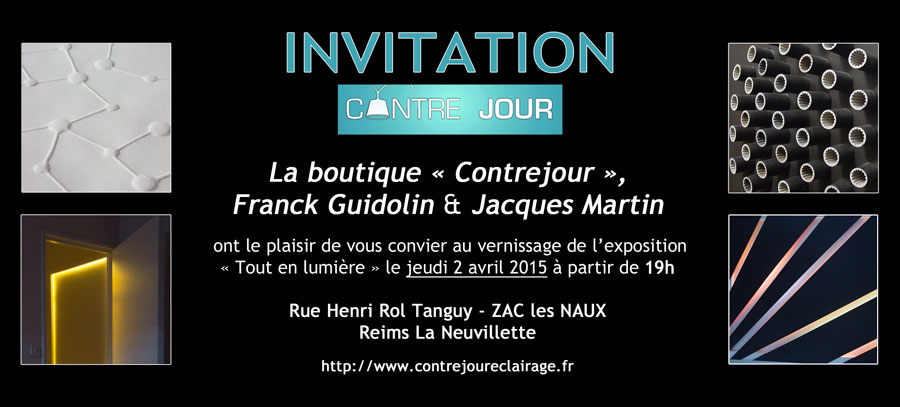 Invitation vernissage Contrejour Exposition Franck Guidolin