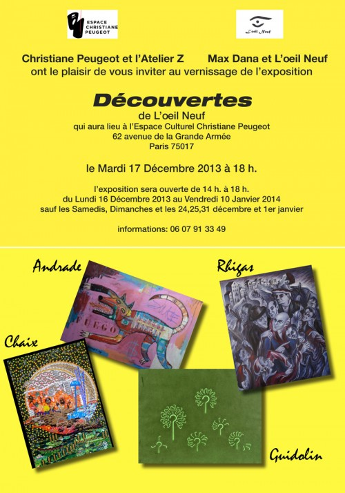Découvertes de l'oeil Neuf Exposition Franck Guidolin Artiste plasticien