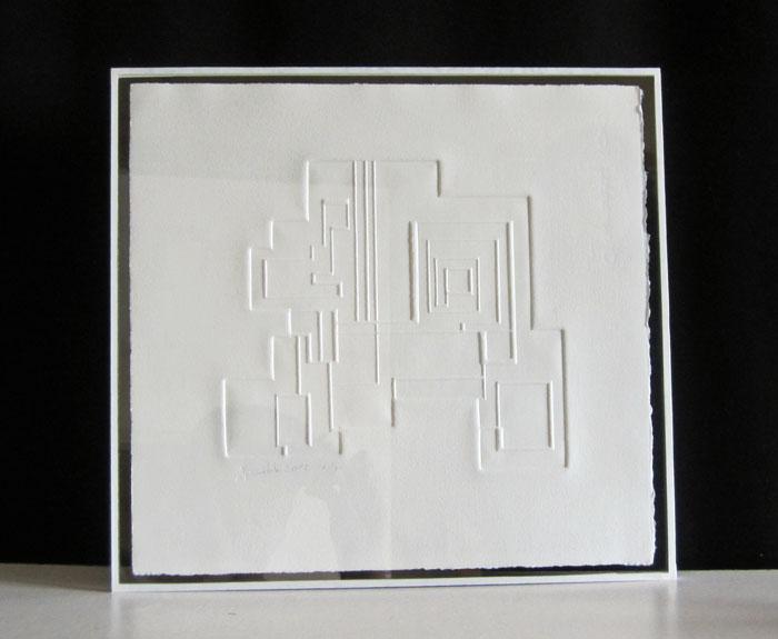 Gaufrage Franck Guidolin Artiste plasticien