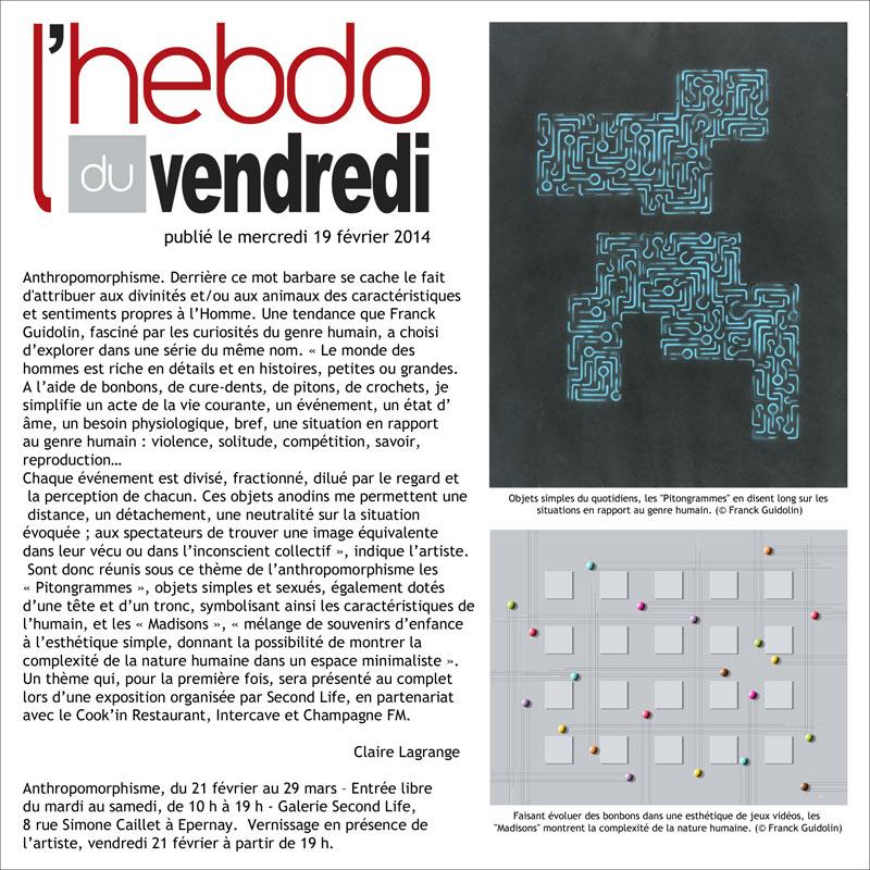 Article Hebdo vendredi