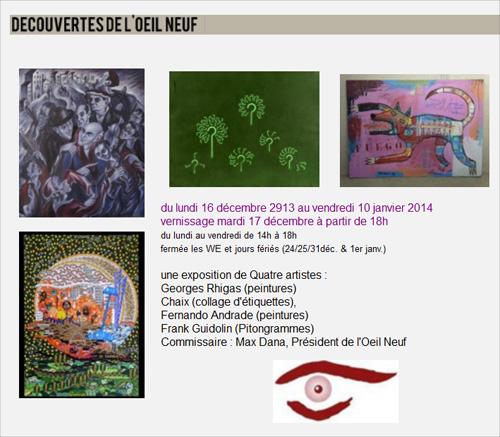 Découvertes de l'oeil neuf Exposition Franck Guidolin