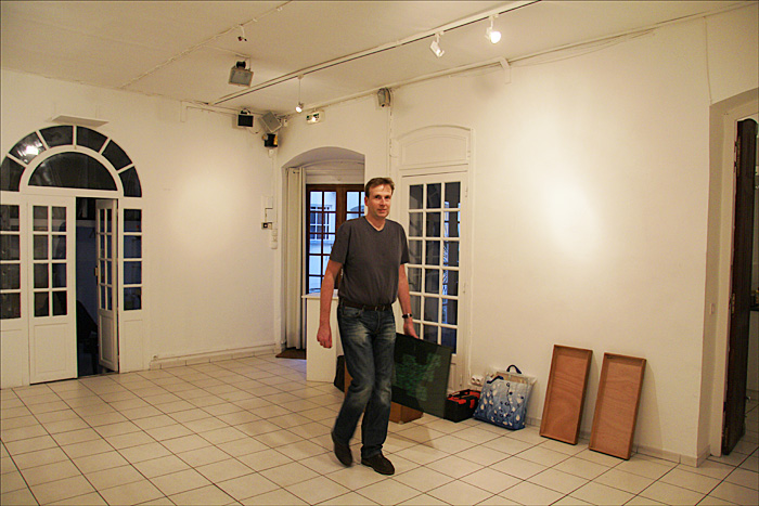 Installation dans la salle Zevaco