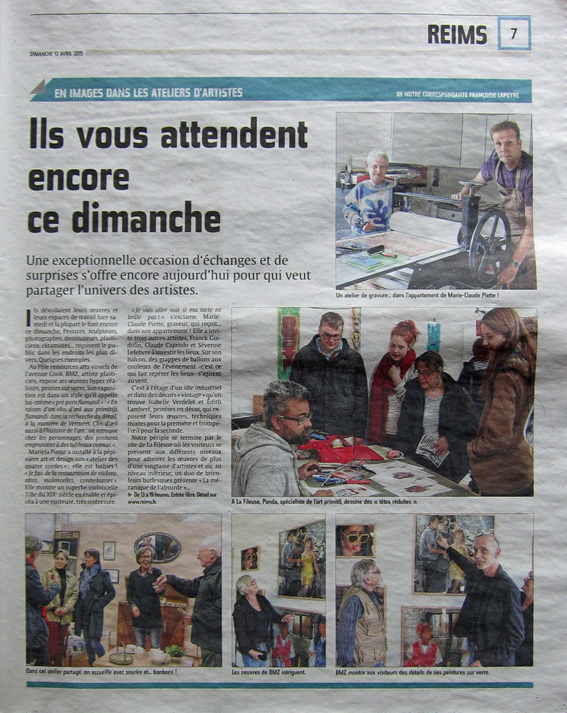 Presse Franck Guidolin Parcours d'artiste 2015