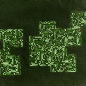 Pitongrammes n°40 - 360° -Colorant sur papier - (65x50) - Œuvre unique - 2007