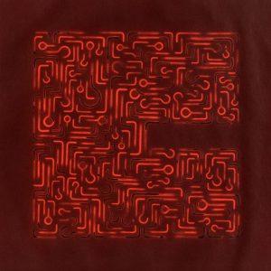 Pitongrammes n°44 - 360° - Colorant sur papier - (40x40) - Œuvre unique - 2007