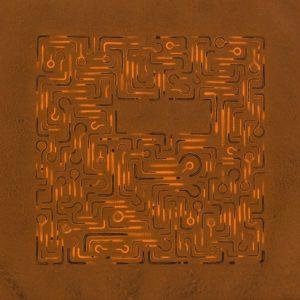 Pitongrammes n°57 - 360° - Colorant sur papier - (40x40) - Œuvre unique - 2007
