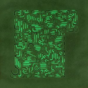 Pitongrammes n°59 - 360° - Colorant sur papier - (40x40) - Œuvre unique - 2007