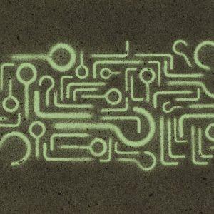 Pitongrammes n°82 - 360° - Colorant sur papier - (20x40) - Œuvre unique - 2009