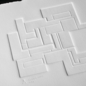 Gaufrage - Bloc 6 - Tiré à 30 exemplaires - 2012