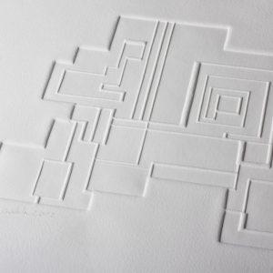 Gaufrage - Bloc 8 - Tiré à 30 exemplaires - 2012