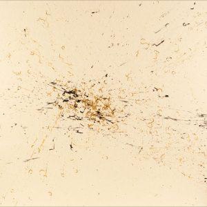 Pitongrammes n°56 - Chaos - Colorant sur Carton bois - (100x140) - Œuvre unique - 2007