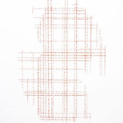 Cordeau à l'encre sur papier - (50x65) - Unique - 2012