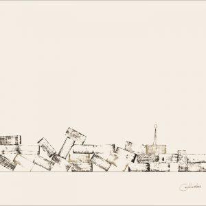 Après la pluie ... - Colorant sur carton bois - (80x120) - Unique - 2008