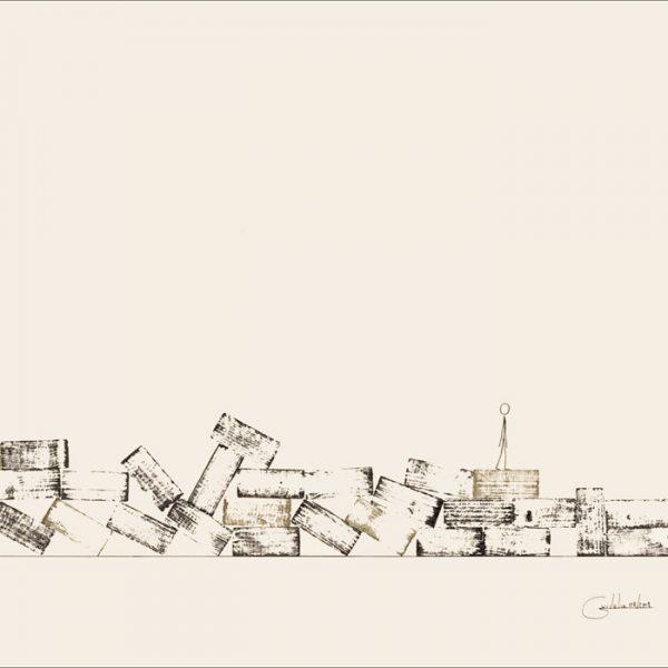 Après la pluie ... - Colorant sur carton bois - (80x120) - Œuvre unique - 2008