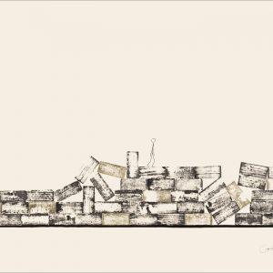 J'ai connu pire 1 - Colorant sur carton bois - (80x120) - Unique - 2008