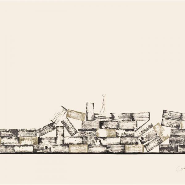 J'ai connu pire 1 - Colorant sur carton bois - (80x120) - Œuvre unique - 2008