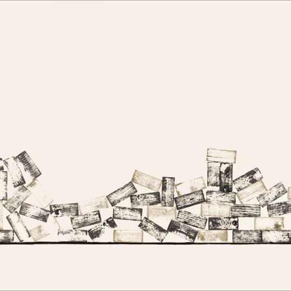 J'ai connu pire 2 - Colorant sur carton bois - (80x120) - Œuvre unique - 2008