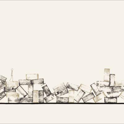 J'ai connu pire 3 - Dromo Man -Colorant sur carton bois - 80x120cm - 2008