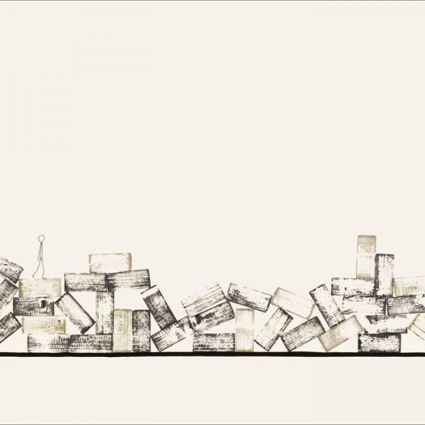 J'ai connu pire 3 - Colorant sur carton bois - (80x120) - Œuvre unique - 2008