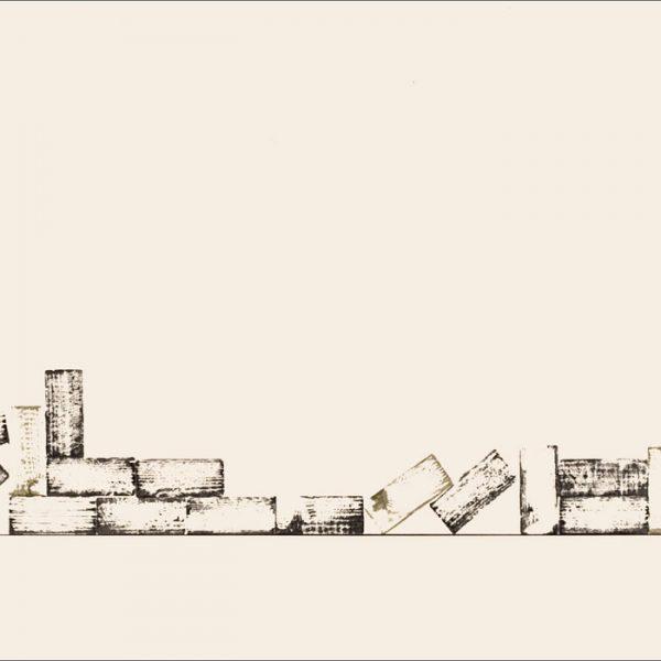 J'ai connu pire 4 - Colorant sur carton bois - (60x140) - Œuvre unique - 2008