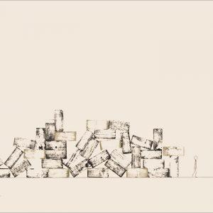 Tout est dans la tête - Colorant sur carton bois - (80x120) - Unique - 2008