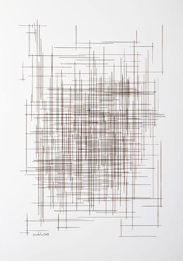 Maille à l'encre Franck Guidolin Artiste plasticien