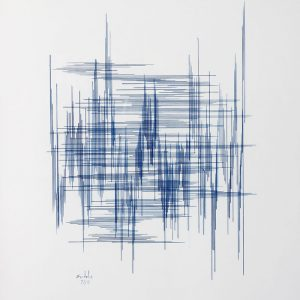 Encre et plume sur papier - (40x30) - Tryptique unique 1/3 - 2011