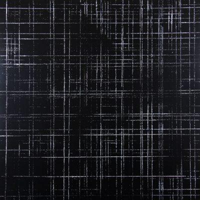 Résidu noir 1 - Acrylique sur carton bois - (100x100) - unique  - 2012
