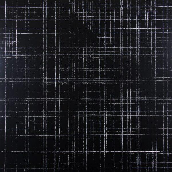 Résidu noir 1 - Acrylique sur carton bois - (100x100) - Œuvre unique