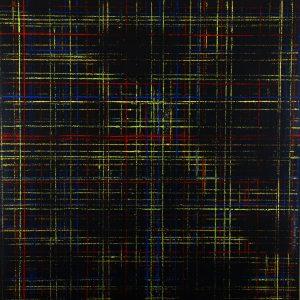 Résidu 1 - Acrylique sur carton bois - (100x100) - Œuvre unique