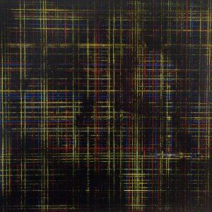 Résidu 2 - Acrylique sur carton bois - (100x100) - Œuvre unique