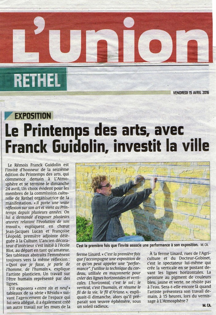 Performance -Franck Guidolin - Printemps des Arts - Rethel