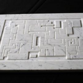 Série » Bloc » en marbre blanc