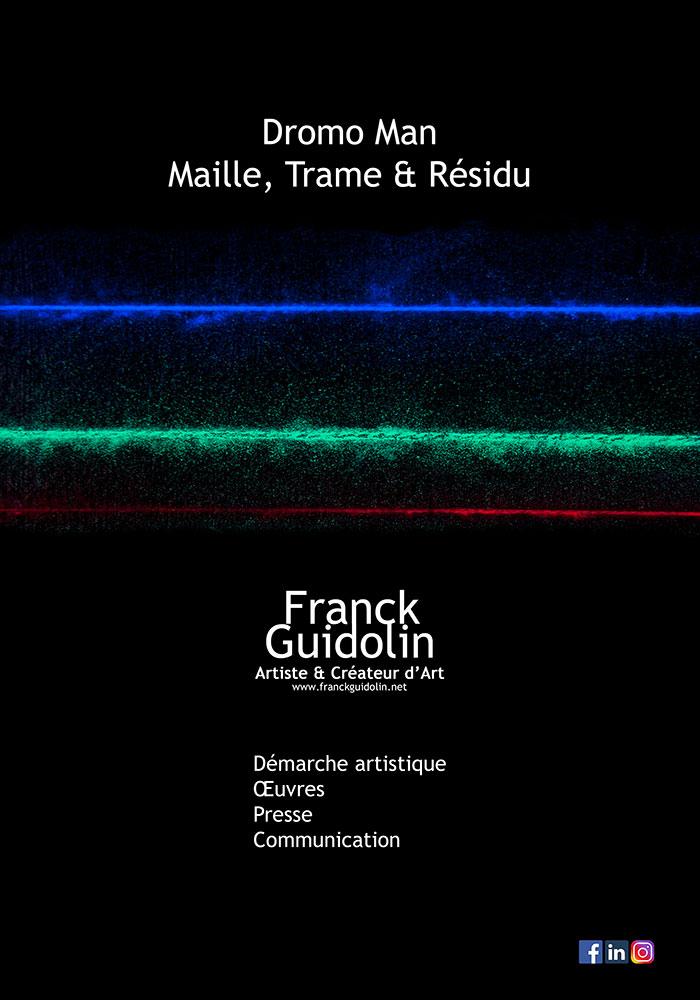 Page d'accueil du portfolio Dromo Man et Maille, Trame et Résidu.